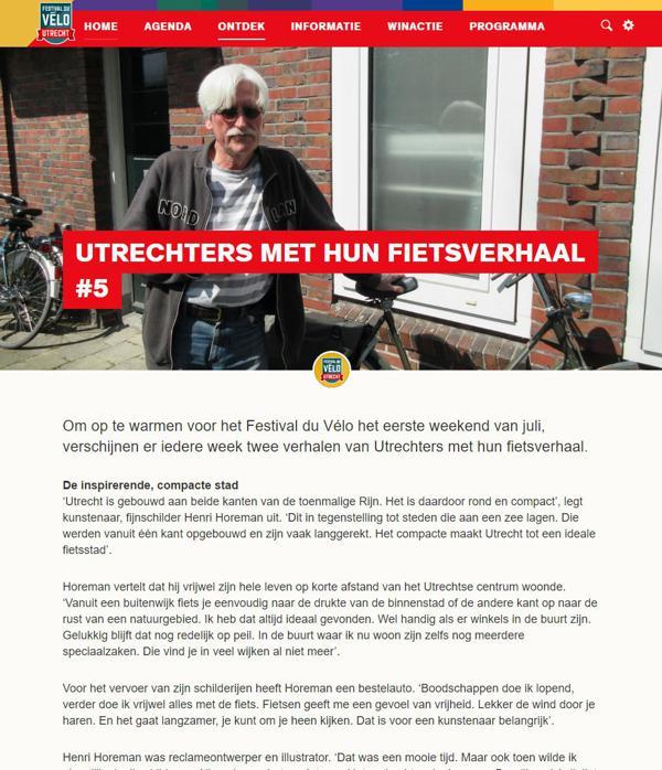 Utrechters en hun fietsverhaal